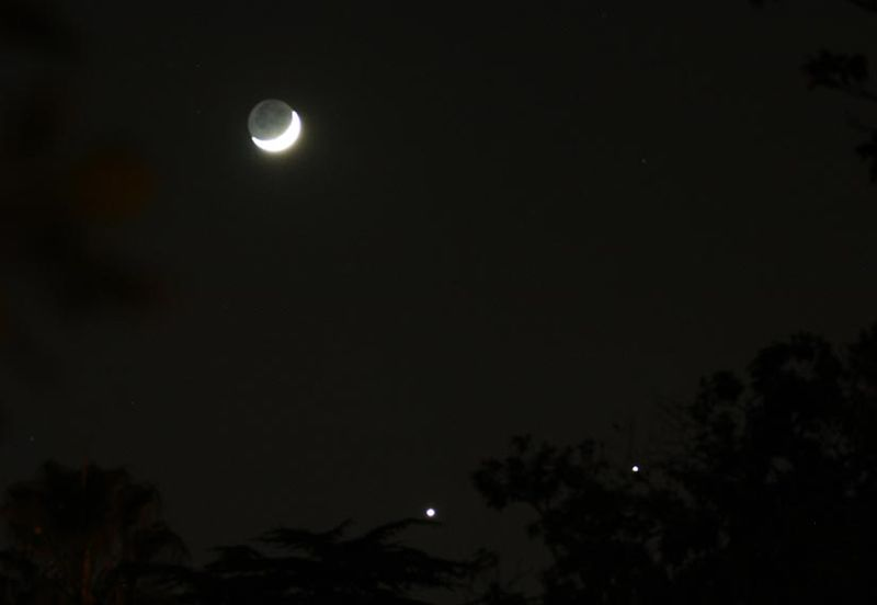 Moon, Jupiter and VenusWeb